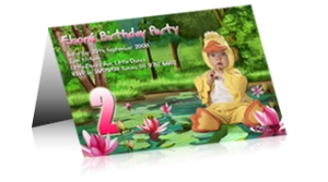 Custom childrens party invitation