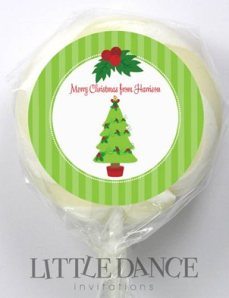 Personalized lollipops for Christmas
